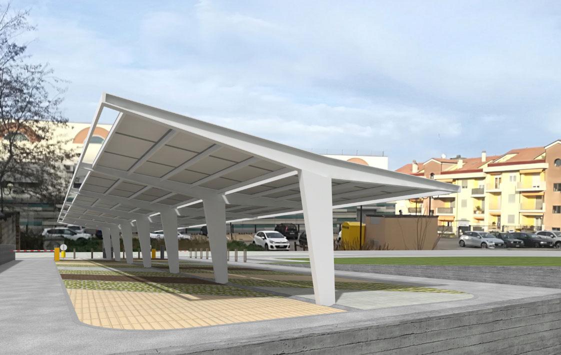 Parcheggio con pensilina fotovoltaica